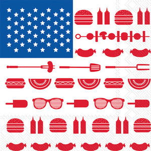Lunch Napkins - Stars & Stripes BBQ