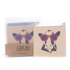 GRUB Pouches - Cow with Sunglasses