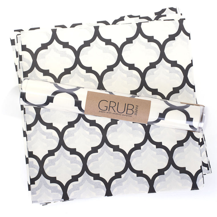 GRUB Paper  - Black Geometric