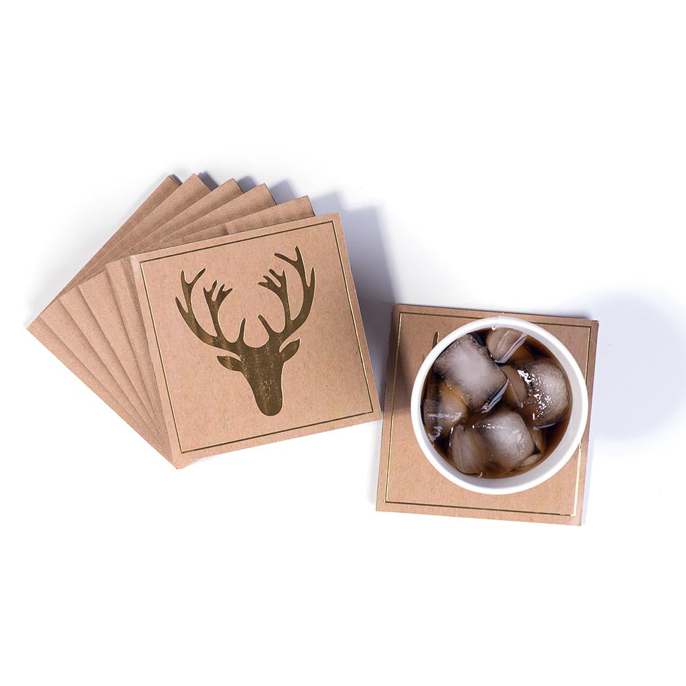 Coasters - Gold Stag