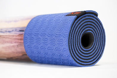 Kino Karma Hot Yoga Mat (Blue/Black)