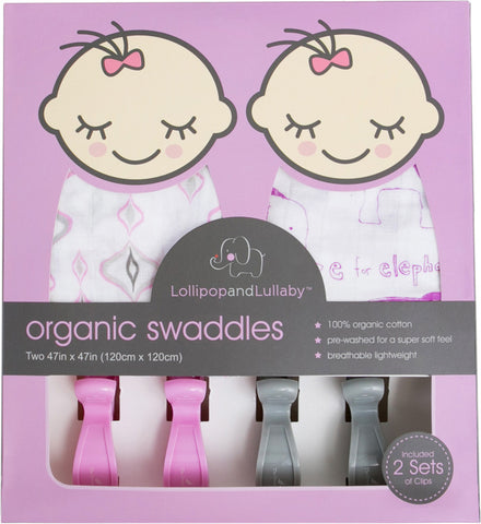100% Organic Cotton Swaddles - Pink Collection