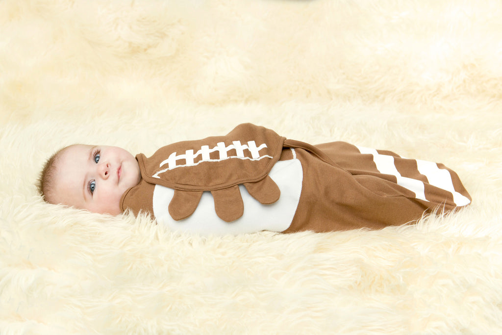 Football Organic Simple Swaddle
