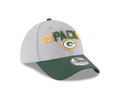 new era,green bay packers,2018,draft,day,onstage,on,stage,flex fit,cap,hat,clothing accessories