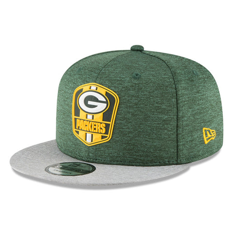 new era,green bay packers,9forty,940,on field,sidelines,2018,away,baseball cap,hat,stretch fit,headwear,clothing accessories,snapback,snap back