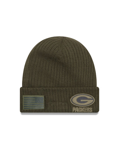 Green Bay Packers 2018 On Field Salute to Service Knit Hat