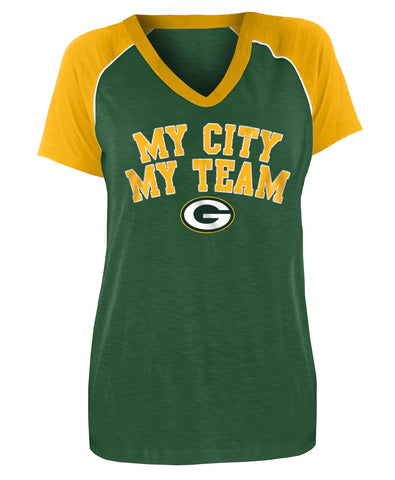 Green Bay Packers My City My Team Women's Tee