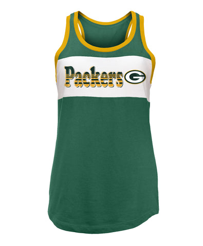 Green Bay Packers Athletic Glitter Women's Tank Top
