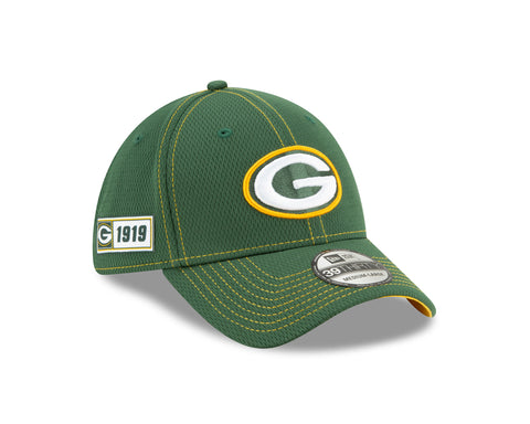Green Bay Packers Sideline Road 39THIRTY Stretch Fit Cap