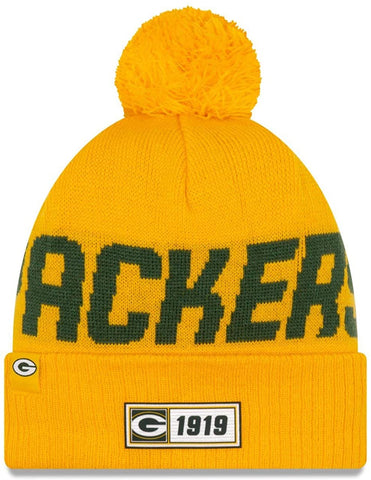 Green Bay Packers Sideline Road Reverse Pom Knit Hat