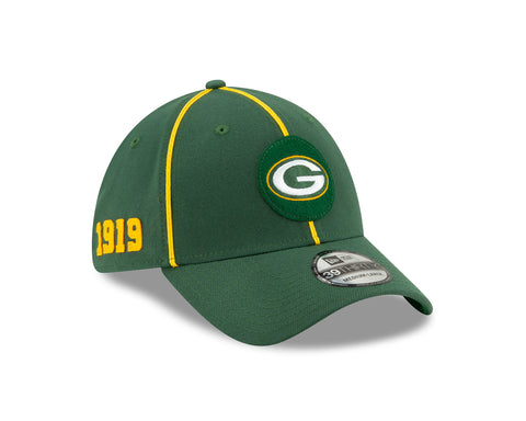 Green Bay Packers Sideline Home 39THIRTY Stretch Fit Cap, S/M
