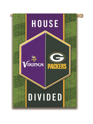"Green Bay Packers Vs. Minnesota Vikings 29"" x 43"" House Divided Flag"