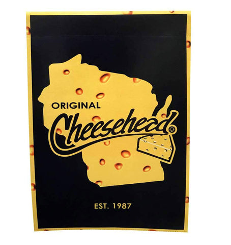 "Green Bay Packers Original Cheesehead 29"" x 43"" Decorative Flag"