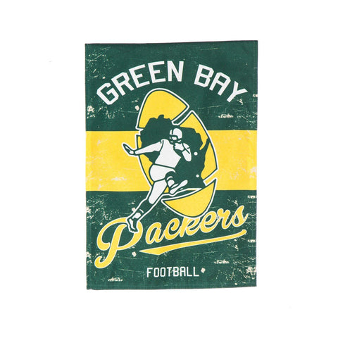team,sports,america,evergreen,green bay packers,linen,vintage,home,lawn,yard,outdoor,garden,flag,home,decor,decoration