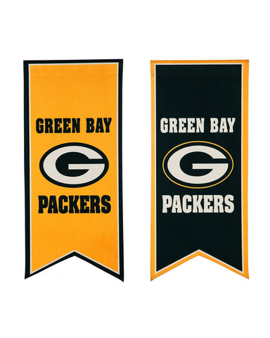 "Green Bay Packers 12.5"" x 28"" Double Sided Flag/Banner"