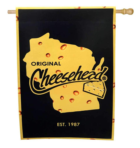 "Green Bay Packers Original Cheesehead 12.5"" x 18"" Decorative Flag"