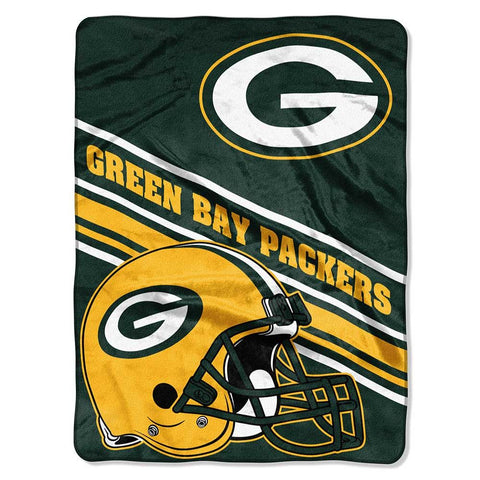"Green Bay Packers Slant 60"" x 80"" Raschel Throw Blanket"