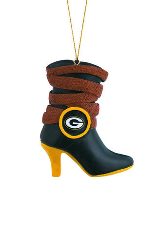 green bay packers,high-heel,boot,ornament
