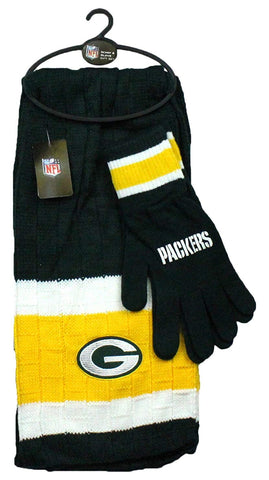 Green Bay Packers Winter Scarf & Gloves Gift Set