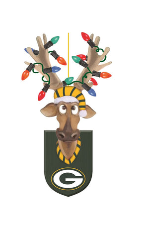 Green Bay Packers Reindeer Ornament