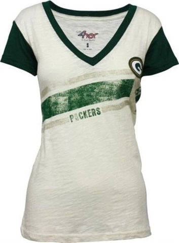 Green Bay Packers Zone Coverage Women's V-Neck T-Shirt