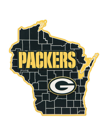 Green Bay Packers State Shape Wall Decor