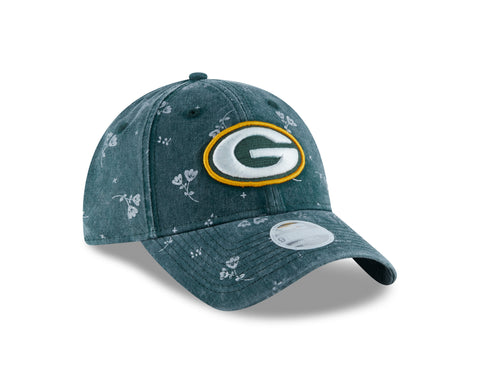 Green Bay Packers Floral Shine 9TWENTY Women's Adjustable Hat
