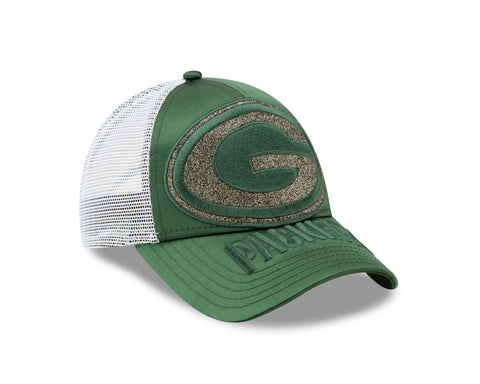 Green Bay Packers Radiant Team 9FORTY Women's Adjustable Hat