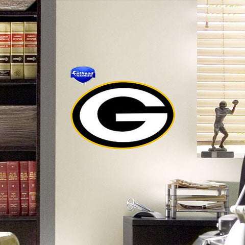 "Green Bay Packers Logo 14 x 9"" Teammate by Fathead"""