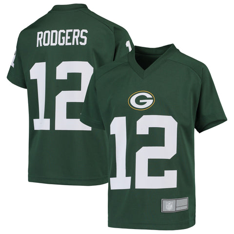 Green Bay Packers Aaron Rodgers Name & Number V-Neck Youth Top