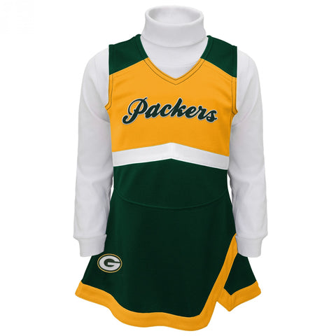 Packers Girls Cheer Jumper Dress with Turtleneck