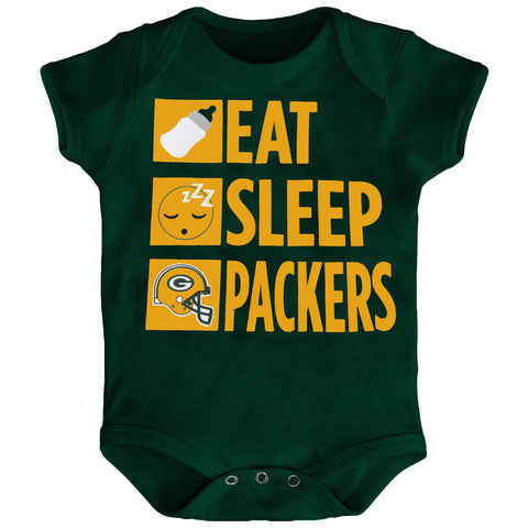 Green Bay Packers Eat Sleep Packers Daily Routine Infant Creeper