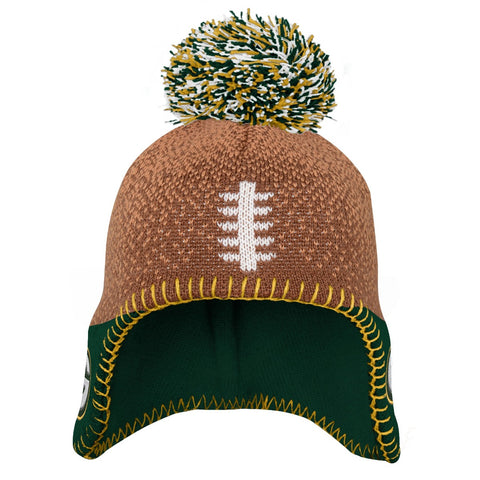 Green Bay Packers Infant Child Football Head Knit Hat
