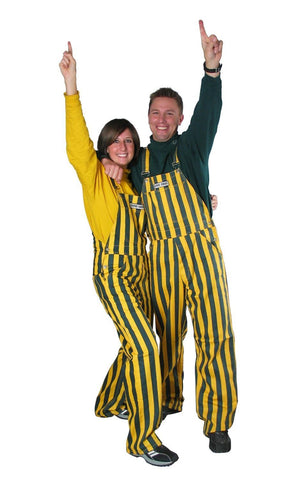 overalls,coveralls,over,alls,cover,gameday,game day,tailgate,tailgating,clothing accessories,green,yellow,gold
