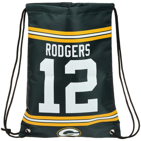 Green Bay Packers Aaron Rodgers #12 Player Drawstring Backpack