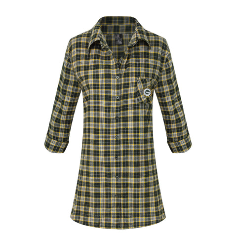 Green Bay Packers Ovation Women's Flannel Nightshirt