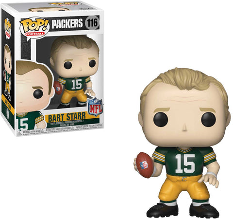 funko, pop, football legends, green bay packers, bart starr, vinyl, action figure, toy figure, collectible