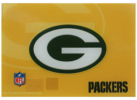 "Green Bay Packers 11.25"" x 8"" Glass Cutting Board"