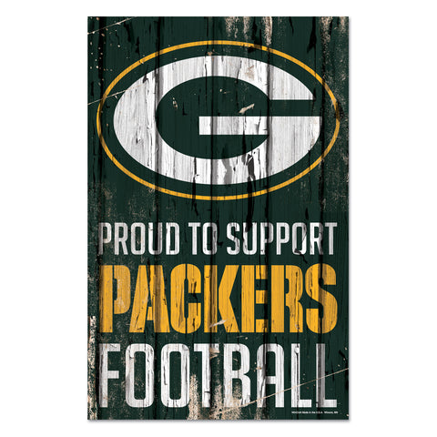 Green Bay Packers 11x17 Wooden Plank Sign