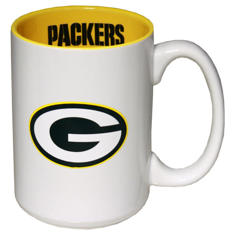 the,memory,company,green bay packers,15oz,15,ounce,dual,decal,jumbo,coffee,cup,mug,glass,drinkware,glassware,kitchen,accessories