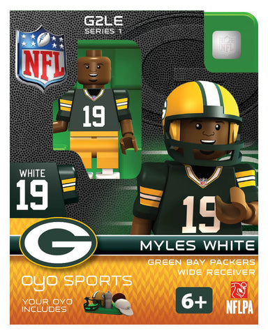 green bay packers,myles,white,oyo,figure