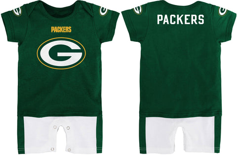 genuine,outerstuff,outer stuff,green bay packers,infant,baby,child,fan,jersey,romper,creeper,onesie,baby,clothing,top,accessories,costume,one,piece