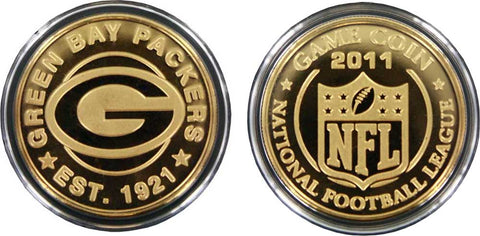 Green Bay Packers 2011 24kt Gold Plated Coin