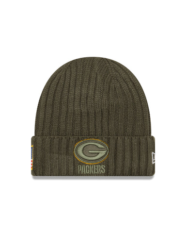 new era,green bay packers,2017,salute,to,service,knit hat,cap,beanie,skullie,winter gear,clothing accessories