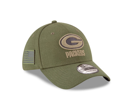 Green Bay Packers 2018 OnField Salute to Service 39THIRTY Cap