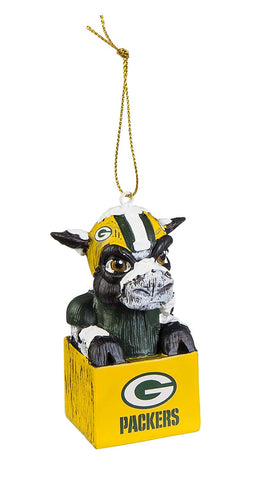 "Green Bay Packers 3.5"" Mascot Ornament"