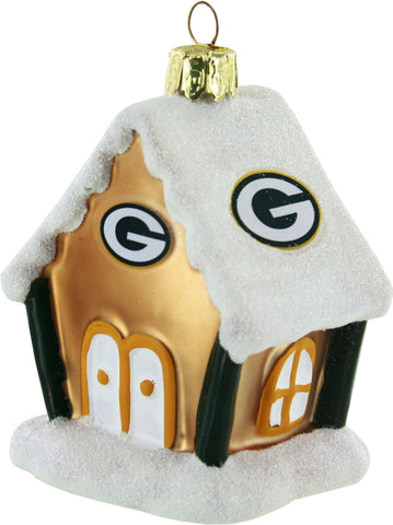 green bay packers,gingerbread,house,ornament