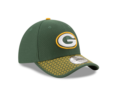 new era,green bay packers,39thirty,3930,flex fit,baseball cap,hat,headwear,clothing accessories,2017,onfield,on field,sideline,on-field