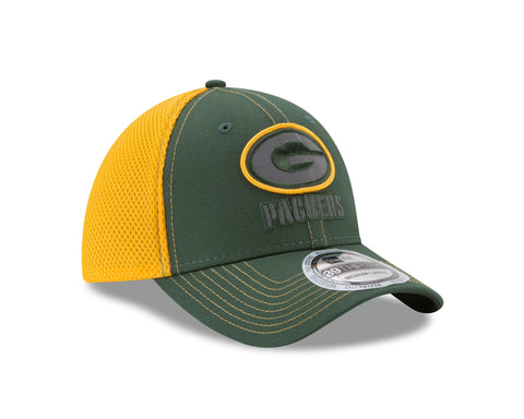 new era,green bay packers,39thirty,3930,flex fit,baseball cap,hat,headwear,clothing accessories
