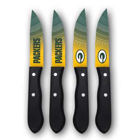 the,sports,vault,corp,corporation,green bay packers,house,home,utensils,steak,knives,knife,tailgate,tailgating,cutlery,set